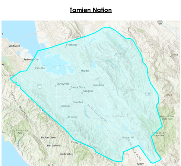 Tribal territory of Tamien Nation