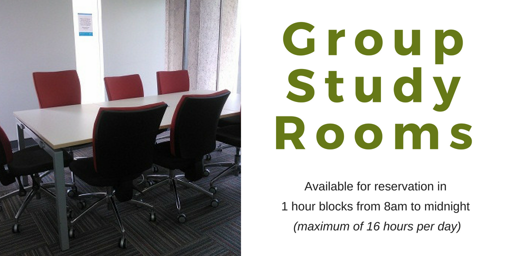 Advertisement for Group Study Rooms