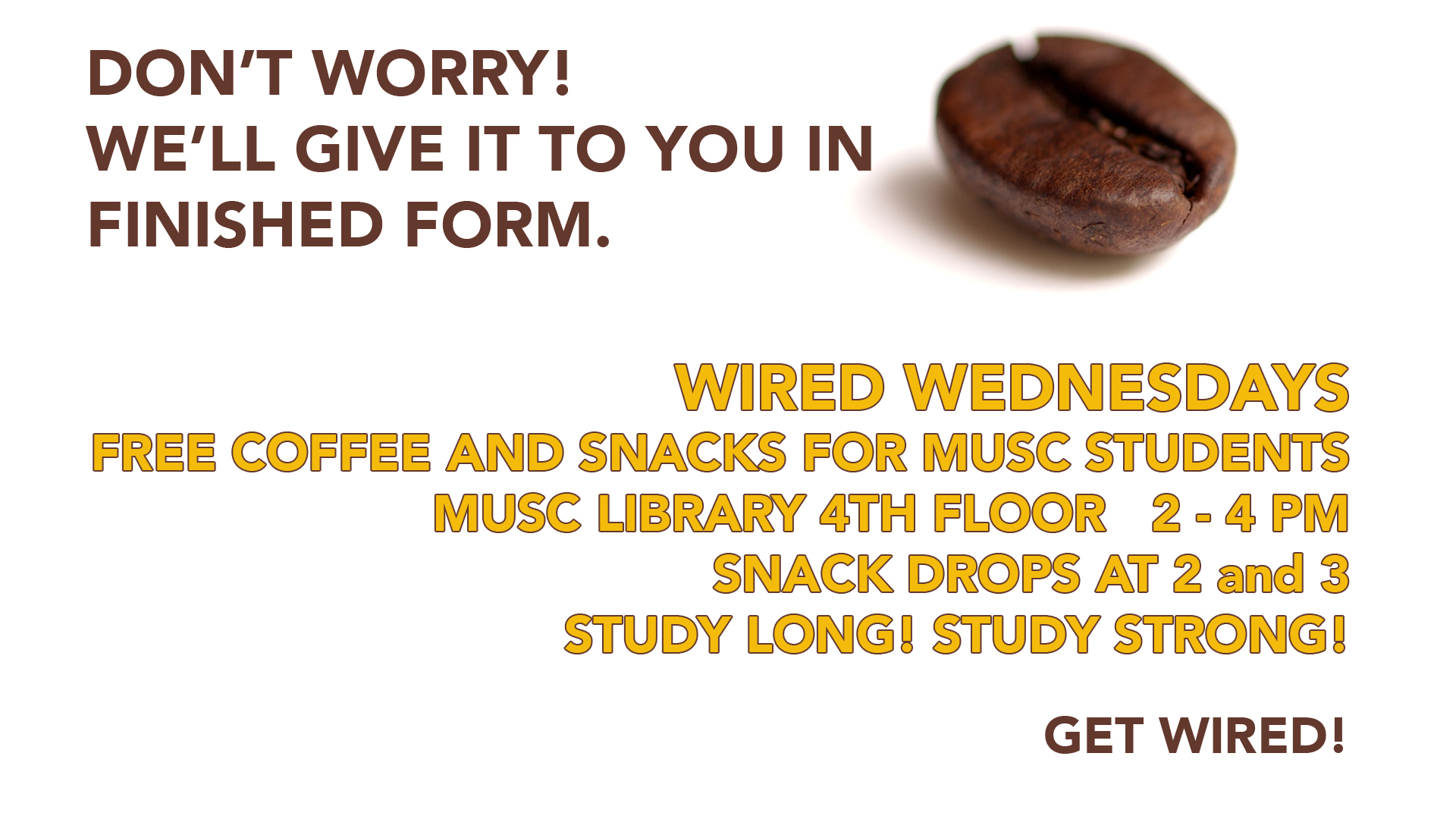 Advertisement for Wired Wednesdays