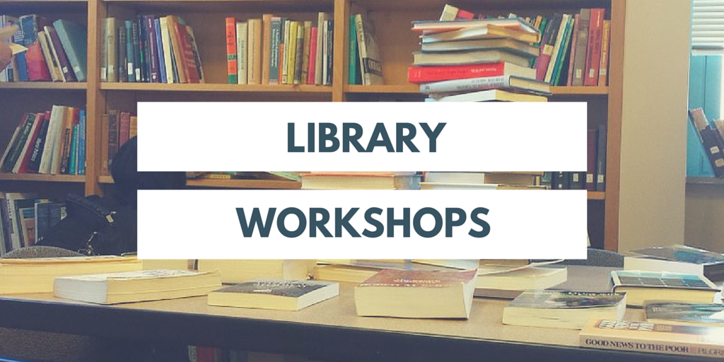 Advertisement for Library Workshops