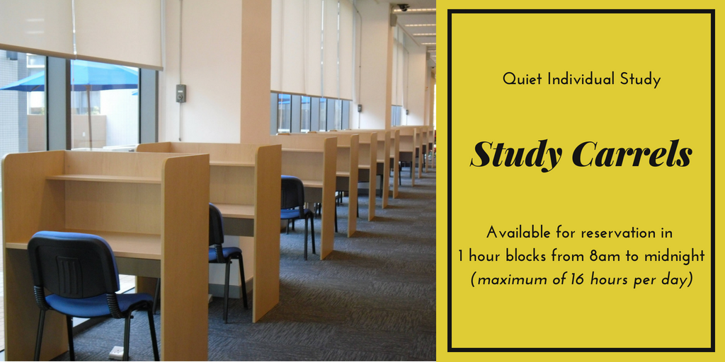 Advertisement for Study Carrels