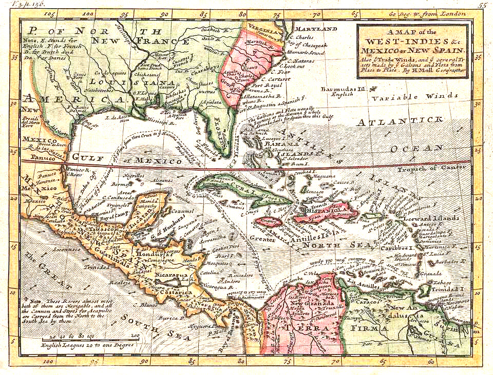Florida and WestIndies 1732