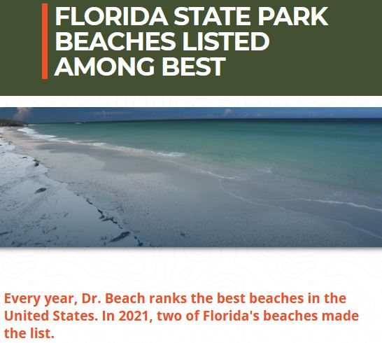 Florida state park beaches listed among best by Dr. Beach