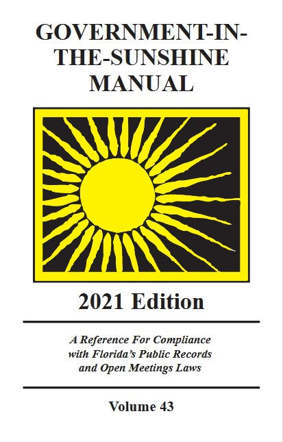 Florida Government in the Sunshine manual 2021