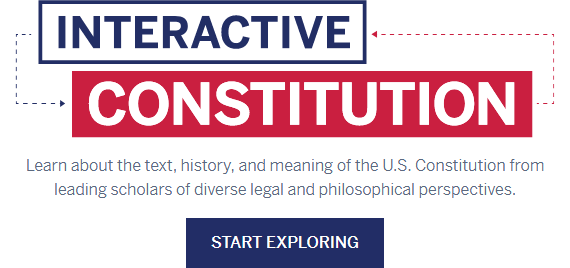 Interaction Constitution from the National Constitution Center