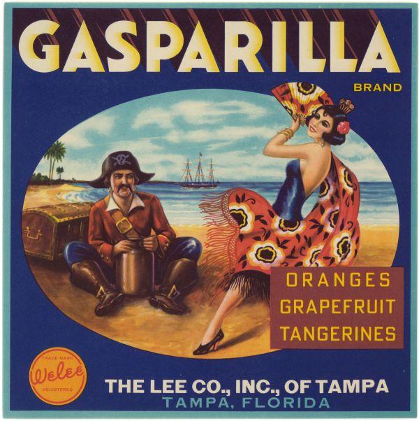Gasparilla Brand Citrus label