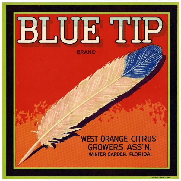 Blue Tip Brand Citrus label
