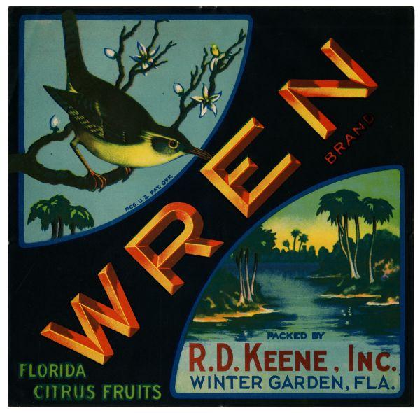 Wren Brand Citrus label
