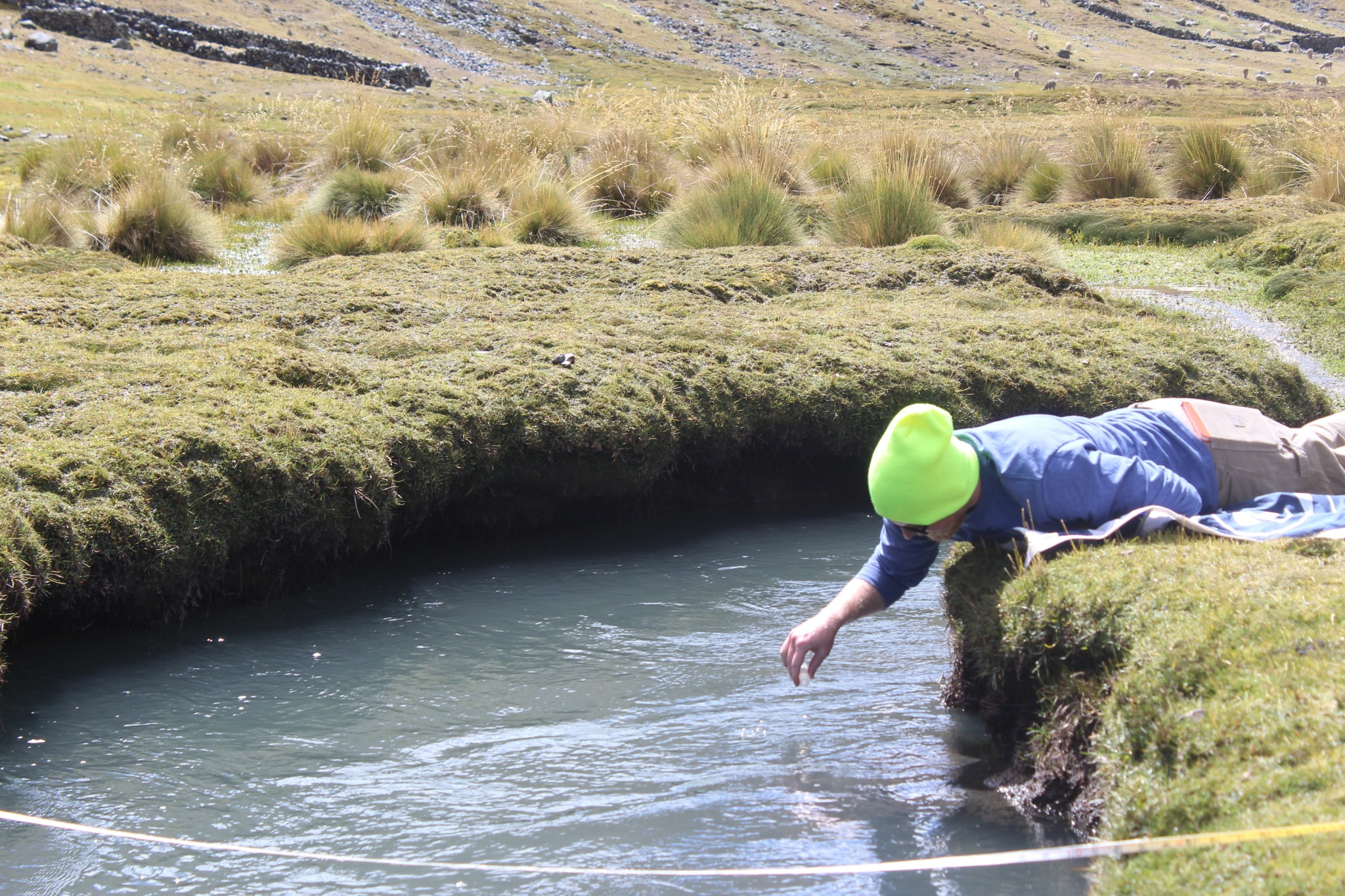 student water testing in Andes