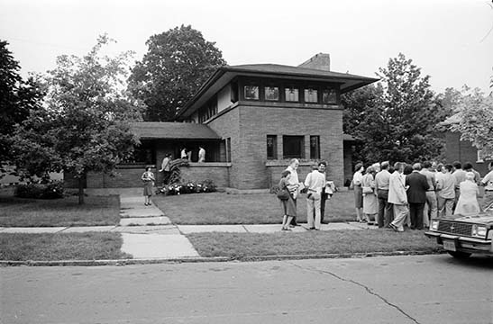Front view of the George Barton House, 1981