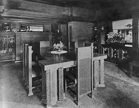 Martin House dining room, 1907