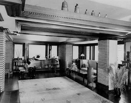 Martin House living room, circa 1969