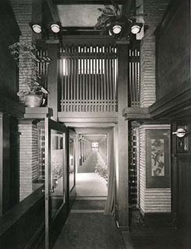 Pergola interior as seen from the Martin House, 1908