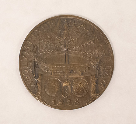 "Mel Dalton – Olympic Medal of Merit, 2 3/16"" diameter, 1928, 2020.05.0001, Department of Archives and Special Collections, Seton Hall University"