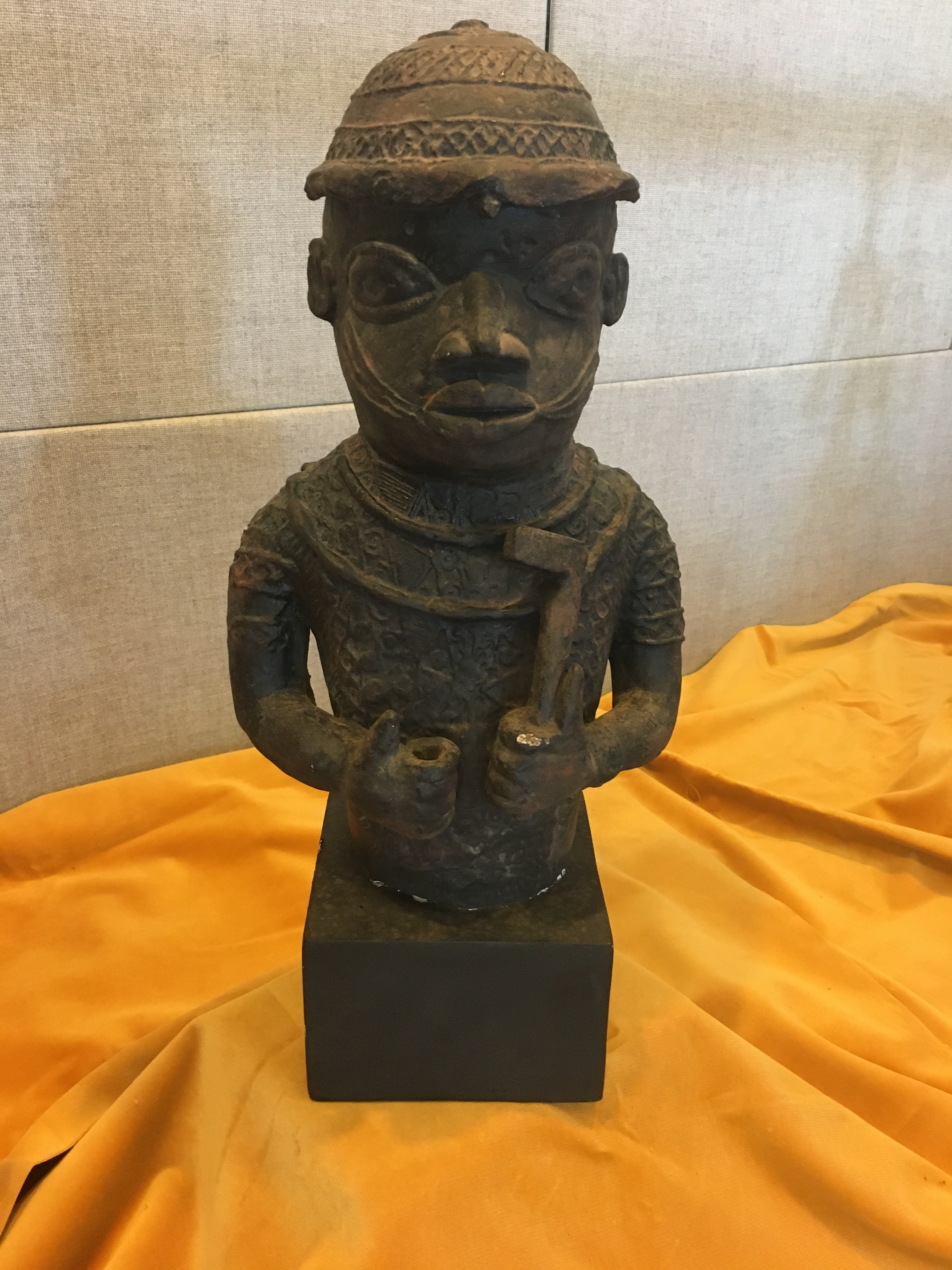 Sculpture of a Benin Courtier from the waist up