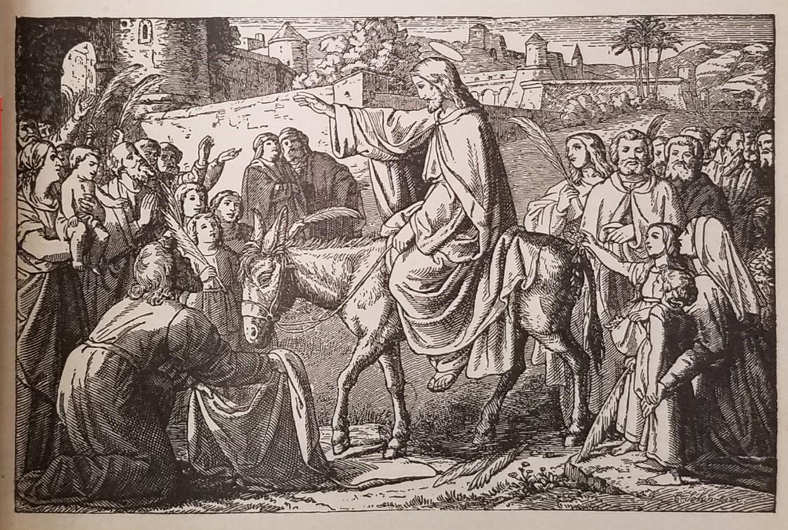 Image of Christ entering Jerusalem