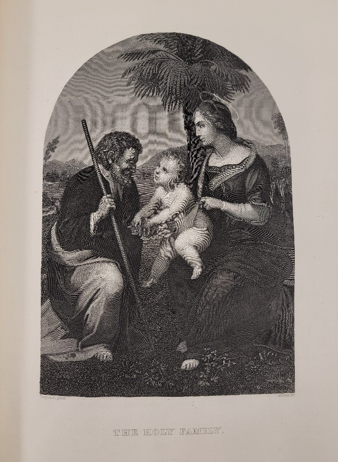 Engraving of the Holy Family by Sc. Muller in The Holy Bible, The Latin Vulgate