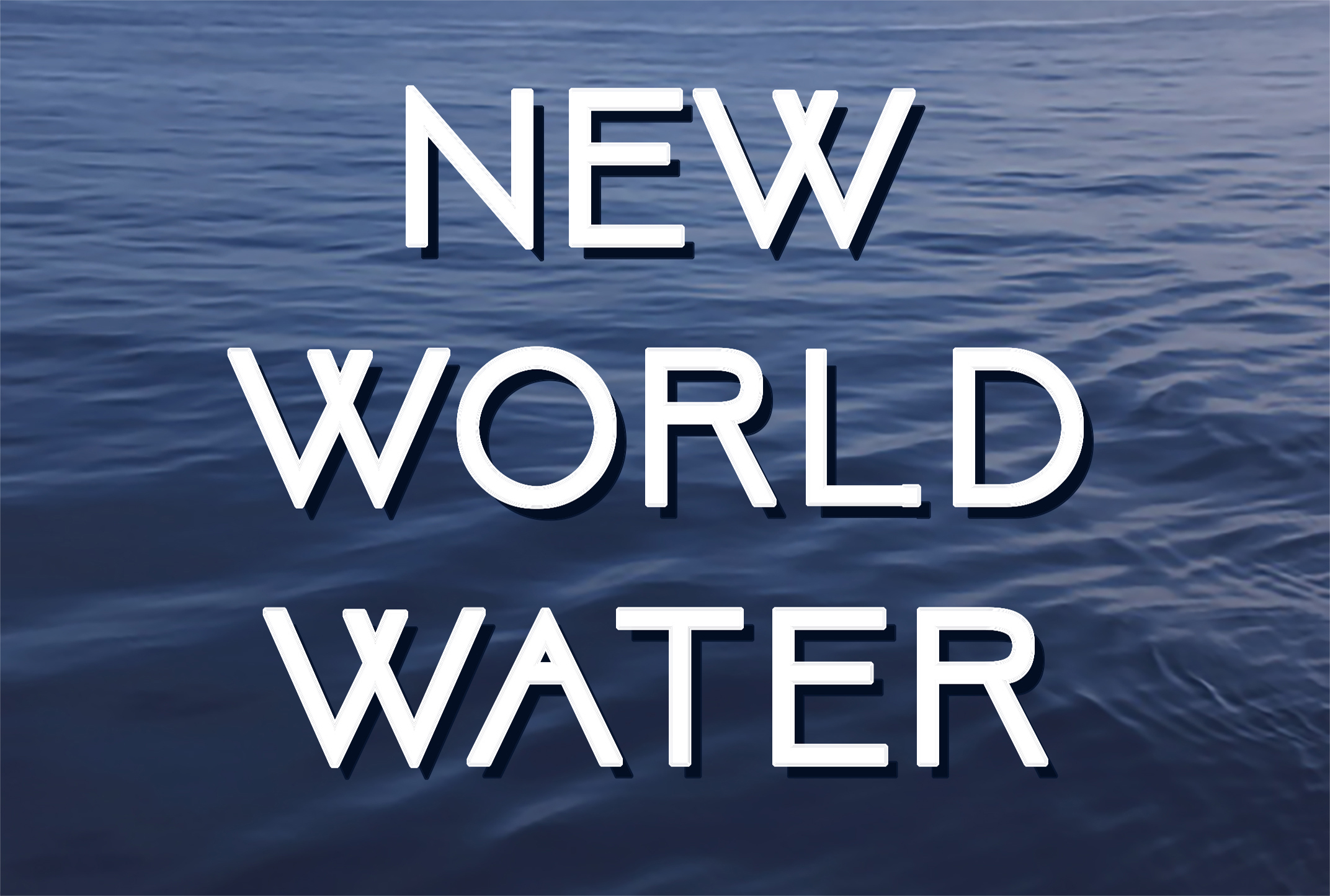 New World Water Postcard Front Image