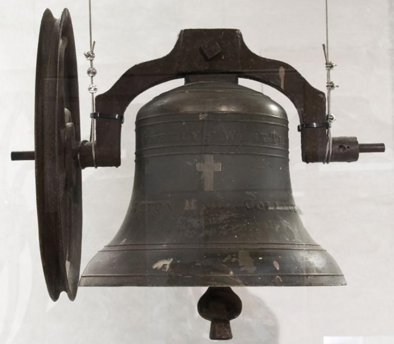 Seton Hall College School Bell,1856, Meneely Bell Foundry, bronze, Gift of the Seton Hall University Alumni Association, 2019.14.0001, Walsh Gallery at Seton Hall University
