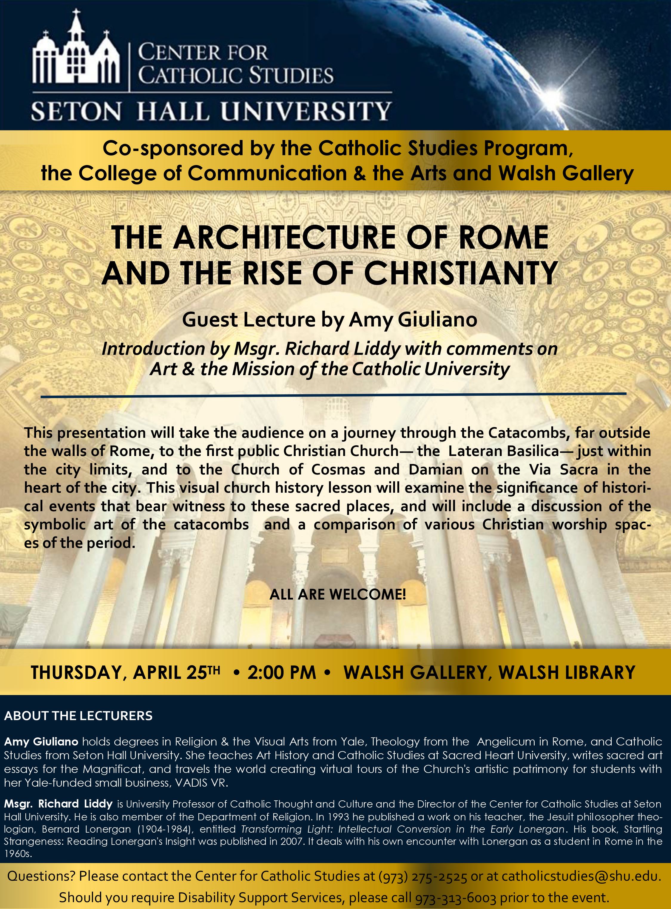 The Architecture of Rome and the Rise of Christianity Flyer