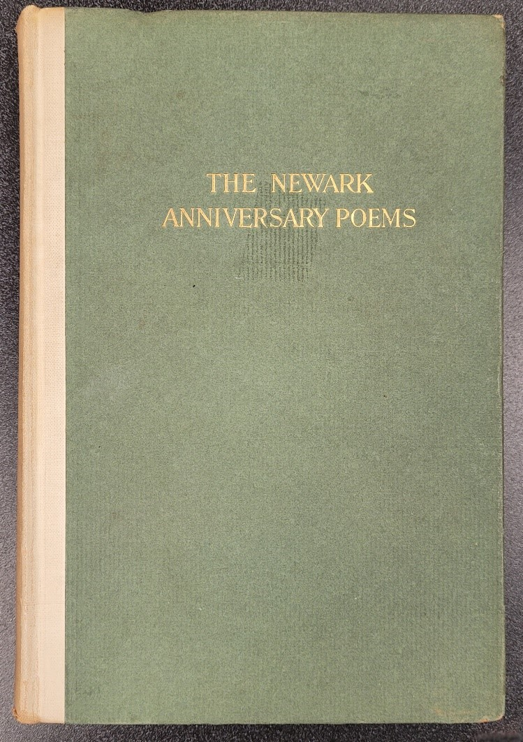Cover image of a The Newark Anniversary Poems. Green with yellow text and yellow spine.