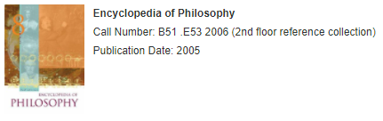 Print encyclopedia of philosophy