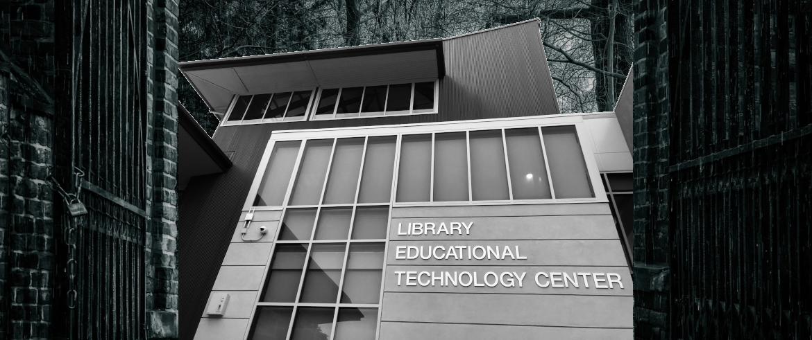 spooky library exterior