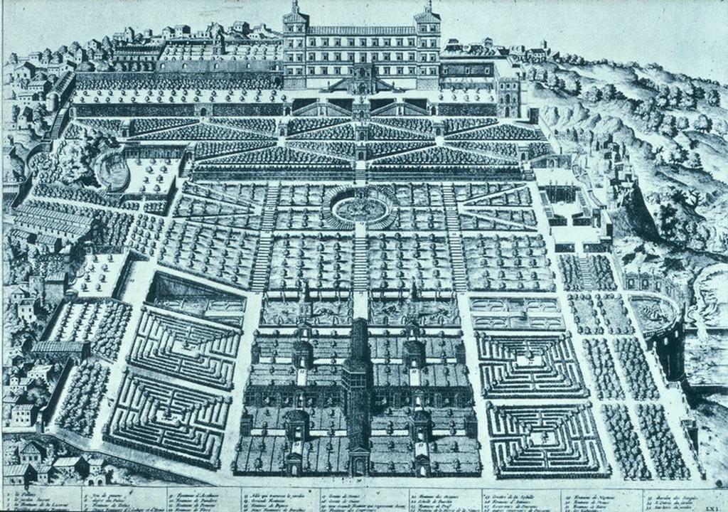 Map reference of gardens Villa d'Este