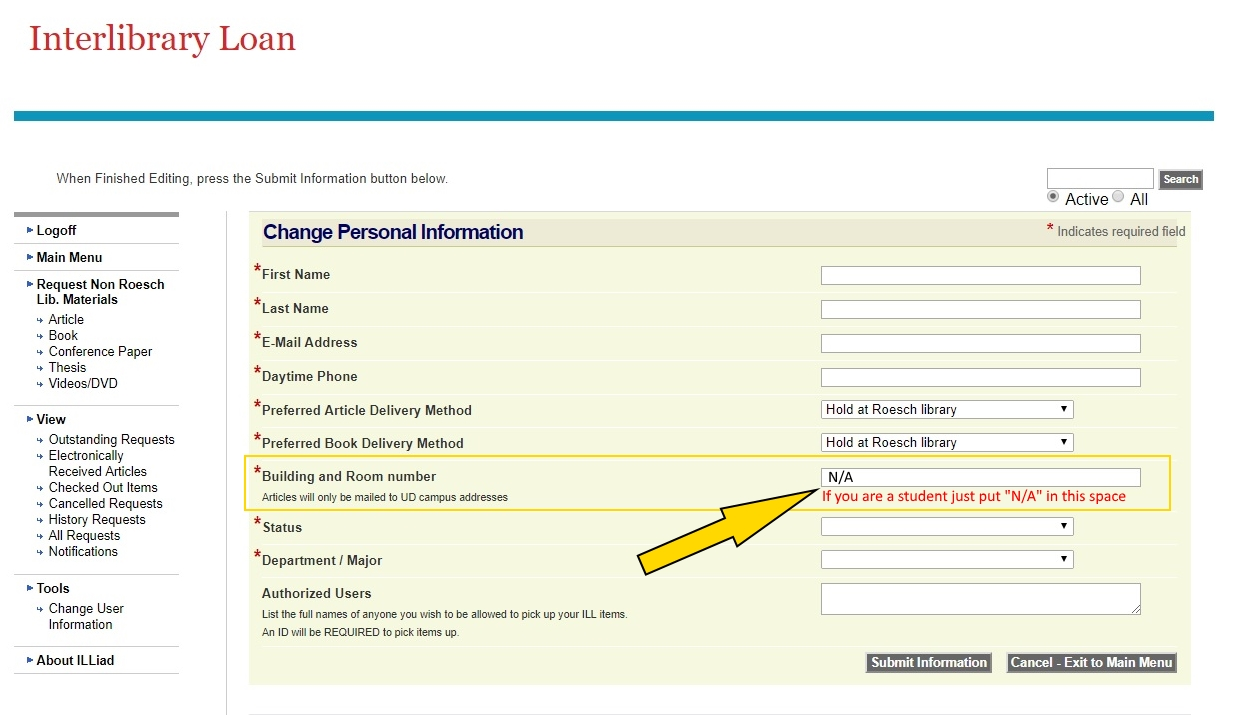 Step 4: Fill out personal information form