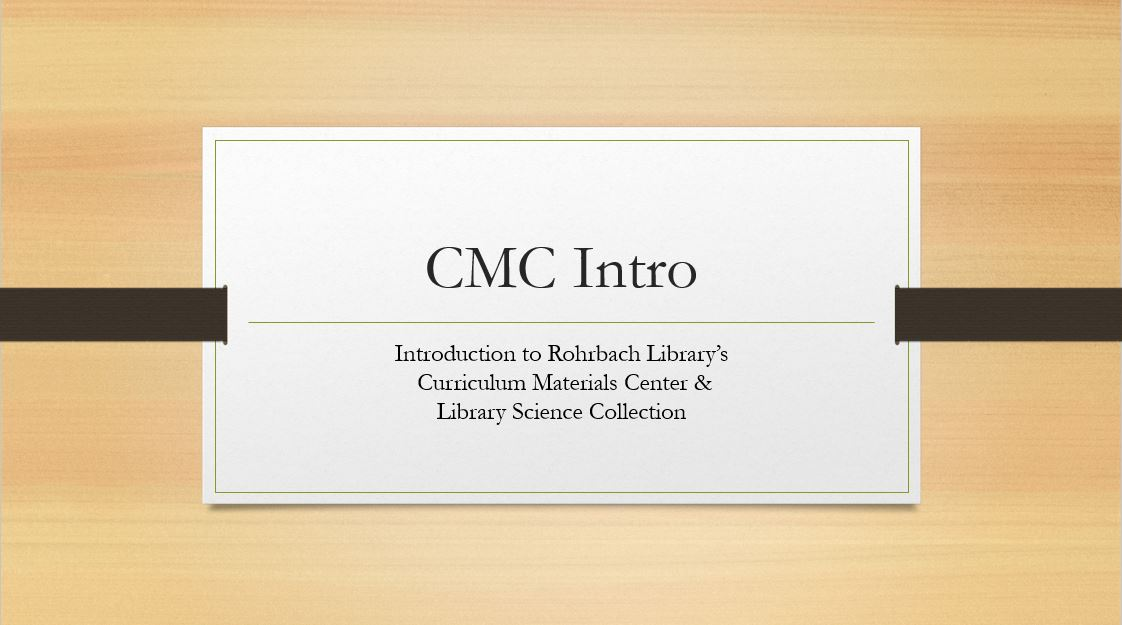 CMC Introduction - First slide