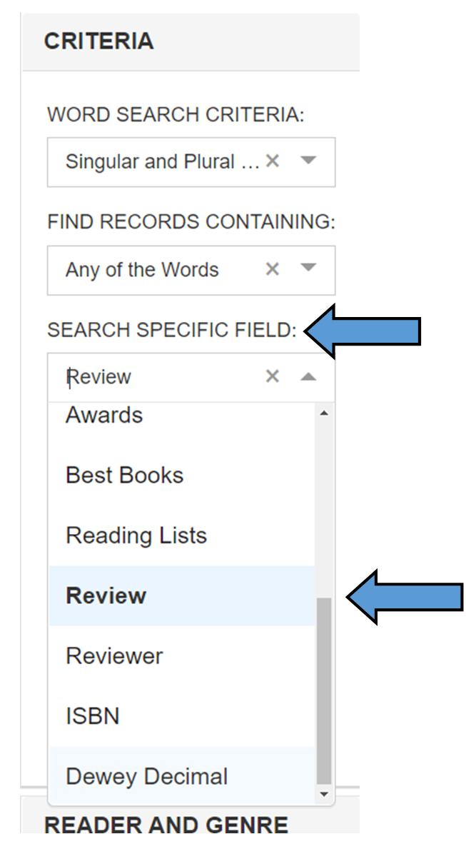 CLCD search limit criteria
