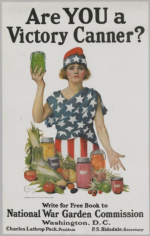 World War I Poster encouraging canning