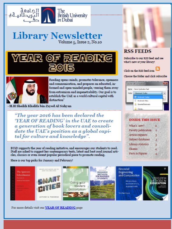Library Newsletter_Vol 5 Issue 2 No 10_March 2016