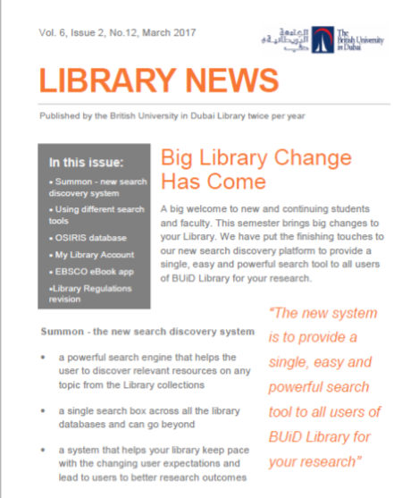Library Newsletter_Vol 6 Issue 2 No 12_Mar 2017