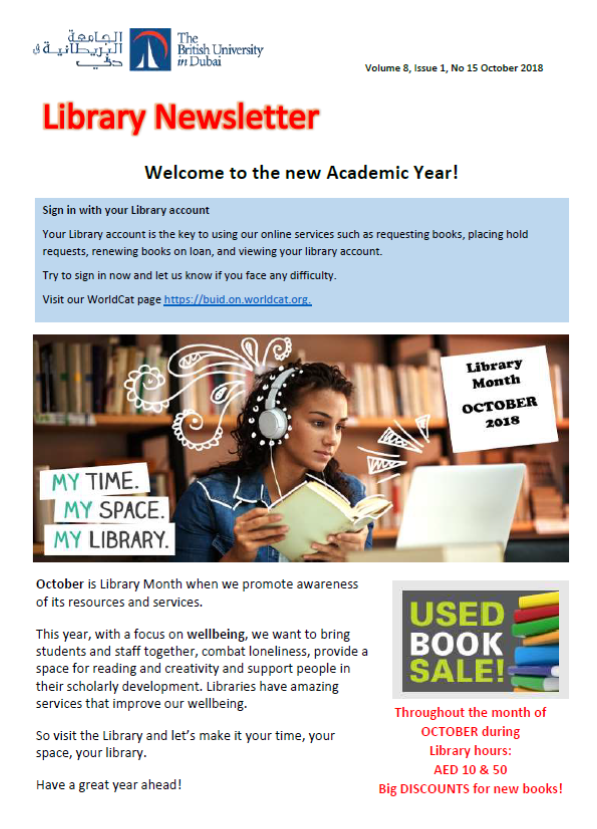 Library Newsletter_Vol 8 Issue 1 No 15_October 2018