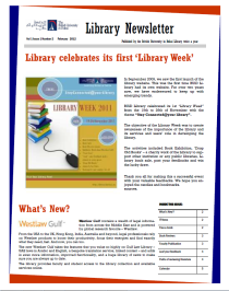 Library Newsletter_Vol 1 Issue 2_February 2012