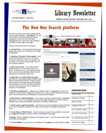 Library Newsletter_Vol 2 Issue 2_March 2013