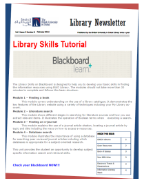 Library Newsletter_Vol 3 Issue 2_Feb 2014