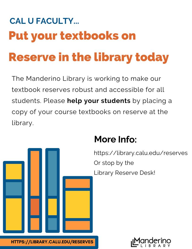 Textbook Reserve Flyer