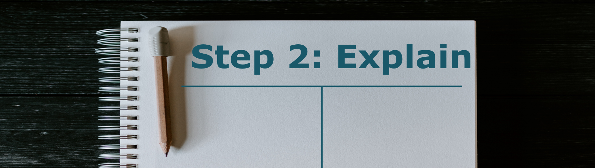T Chart with Step 2: Explain at the top