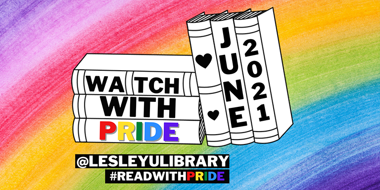 Graphic advertising June's Watch and Read with Pride social media campaign