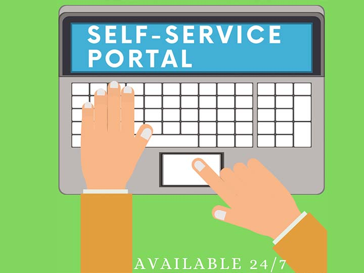 Self Service Portal available 24/7