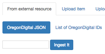 "Screenshot of ""From external resource"" with OregonDigital JSON highlighted."