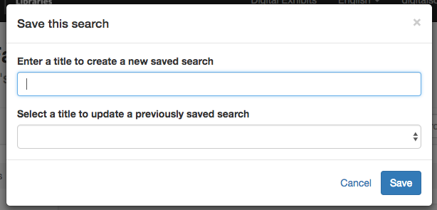 screenshot of save this search pop-up window