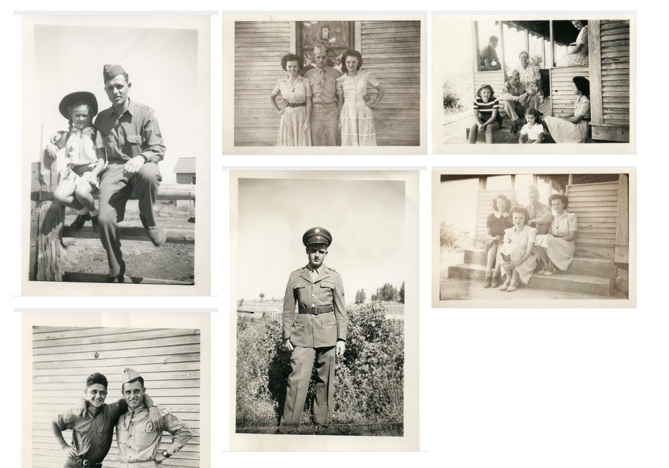 a grid of black and white photos