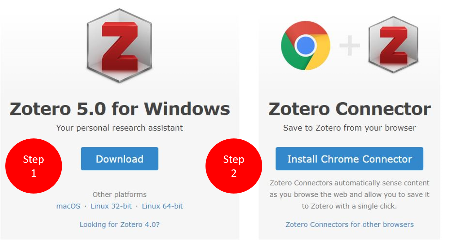 Zotero Download Screen