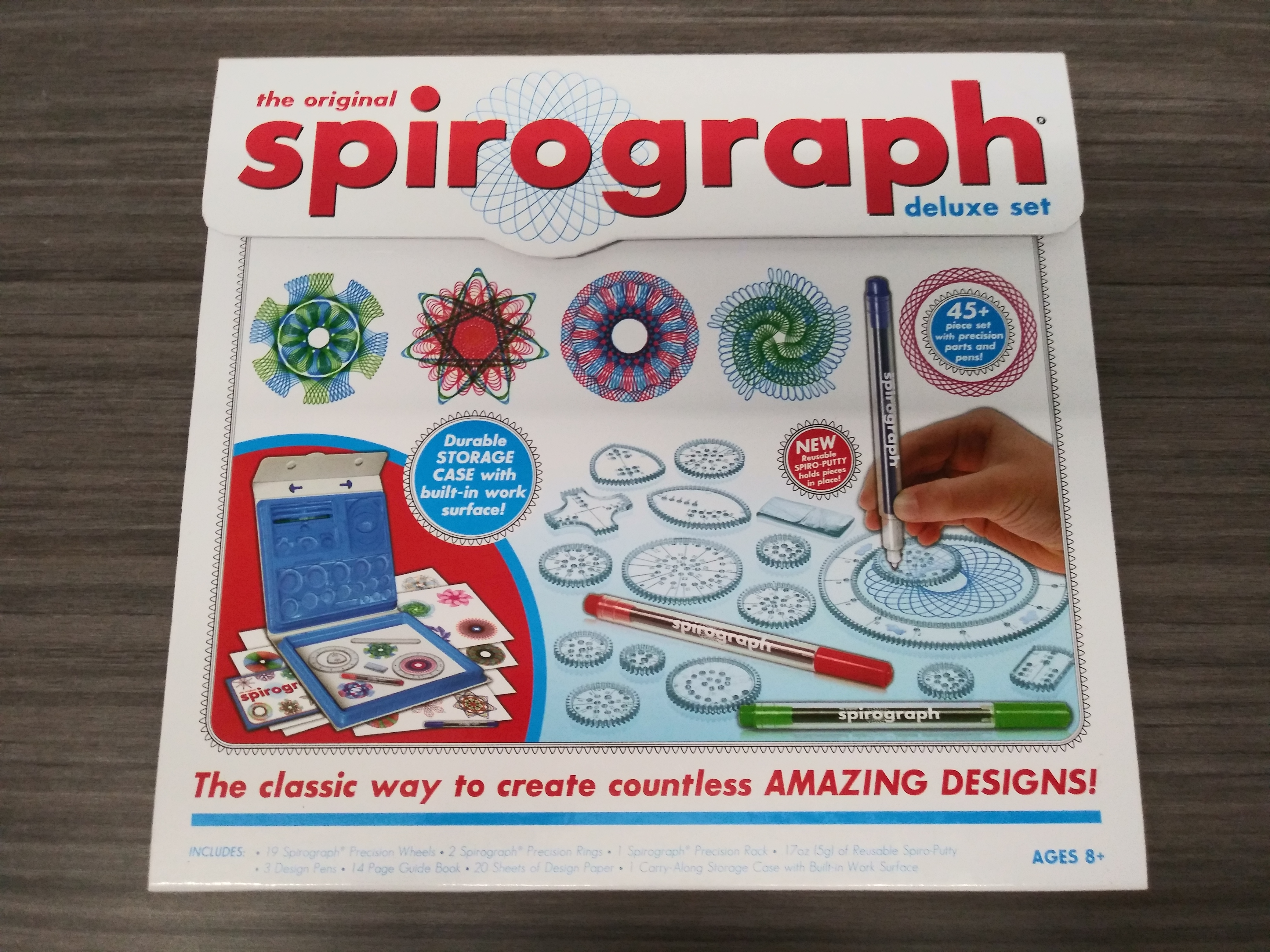 The original spirograph delux set - The classic way to create countless amazing designs!