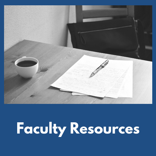 Click here for faculty resources
