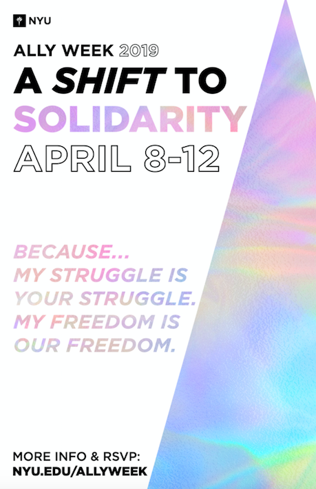 Graphic of Ally Week logo that reads Ally Week 2019 A Shift to Solidarity