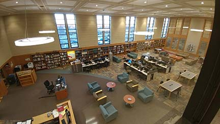 Library Reading Room aerial view from 2018